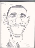 Obama caricature (pencil) by Pupster0071