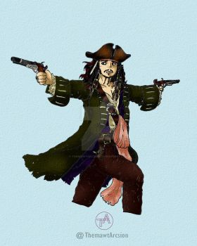 Captain Jack Sparrow by ThemawtArcsion
