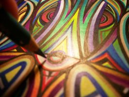 Royal Prisms (detail view) by VibrantVoid
