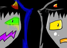 Bad Lessy and normal Lessy by lessy652