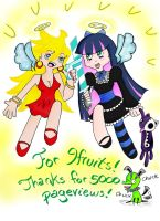 Kiriban - Panty and Stocking by Simply-Scarlet