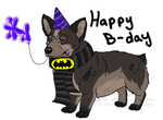 Balloon animals for corgi's on there birthday by Morobutt