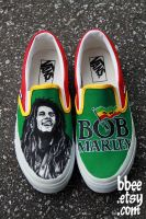 Bob Marley Shoes by BBEEshoes
