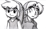 Young Links sketch by BlueLink