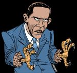 The Real Obama SPREAD IT OUT by Latuff2