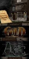 Gold And Silver Photoshop Styles by survivorcz