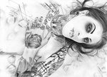 Chris Motionless signed drawing by breaisbees