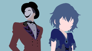 Hiruko and Kohina Kagetane minimalist by atashinchiii