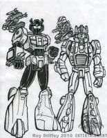 A M Grimlock and Snarl by royalentertainment