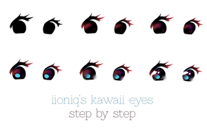 kawaii eyes by iioniq