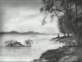 old man and lake by Yureiii