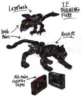 Transformers: Burning Fury - Laserbeak and Ravage by KrytenMarkGen-0