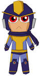 Chibi Bad Box Art Megaman by MoonlitFlames