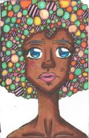 crazy afro by TheLuckyStarhopper