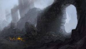 Harrenhal Ruins Concept Art by GrendelGrack