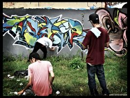 The graffiti artists by gaido