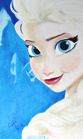 Queen Elsa by Crystal-Cat