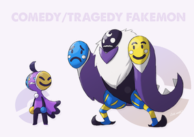 Comedy/Tragedy fakemon by EstevaoPB