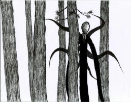 UPDATED: Slender Man WIP by WolfieHowlsToTheMoon