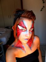 Maquillaje Spiderman by Arisusandasu
