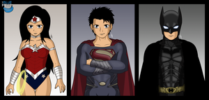Superman/Batman/Wonder Woman by TheBlueFruit