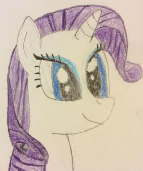 Drawing of Rarity by Overkill-0526