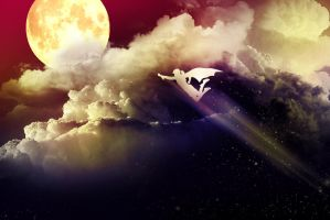 On My Way to The Moon by Siphen0