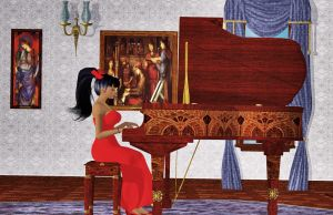 Linnea and The Piano by Aisiko