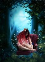 Chair in the forest by Fae-Melie-Melusine