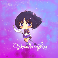 Sailor Saturn Chibi Sticker by Kairui-chan