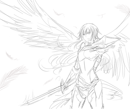 Sketch WIP- I WILL SLAY THEE MOFO by xYorutenshi