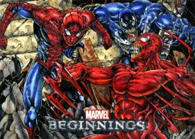 Spiderman and Venom vs Carnage MB2 by DKuang