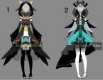 raven outfit adoptable batch CLOSED by AS-Adoptables