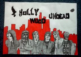 Hollywood Undead poster by nyx-vampire