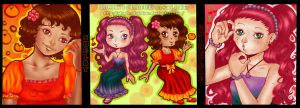 FRUITY DELIGHTS~Oranges and Cherries by LittleMissSquiggles