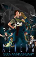ALIENS 30th ANNIVERSARY POSTER by EJLightning007arts
