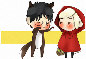 Drarry | Little Red and the Wolf by Cremebunny