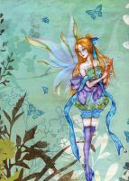 One winged fairy by KazeHA