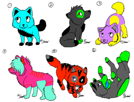 Wolf Pup Adoptables -CLOSED- by ToxicSkullie027