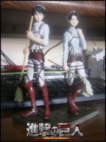 Banpresto Cleaning Levi and Cleaning Eren Figures by Levi-Ackerman-Heicho