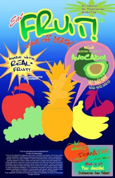 FRUIT! Poster by CaptainMorwen