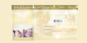 Header PSD One Direction FREE by clubbloggeras