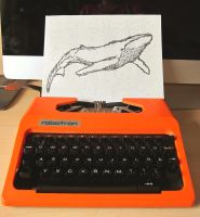 Whale typewriter art by dreamstone