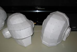 Daft Punk Papercraft Helmets by VitaminZinc