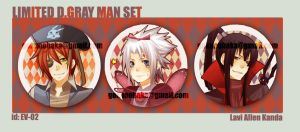 + Limited DGM Button set + by goku-no-baka