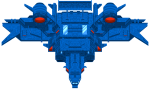 Massive Pixel Starship by emocx