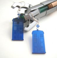 Tardis Transparent Doctor Who Earrings by GeekStarCostuming