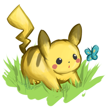 Chubby Pikachu by Raidiance