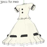 MMD- White Gown-DOWNLOAD by MMDFakewings18