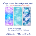 Mini Price Custom Box Backgrounds Pack by Oce3D-Rainbow